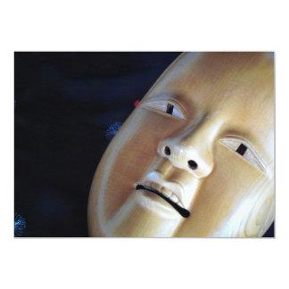 Enchanting Wood Noh Mask Mystery Party Invitation
