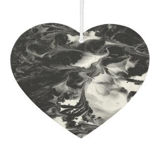 ENCHANTMENT  (black & white abstract art) ~ Car Air Freshener