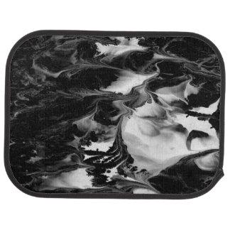 ENCHANTMENT  (black & white abstract art) ~ Car Floor Mat