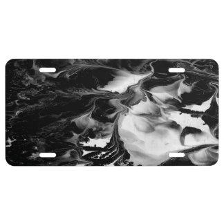 ENCHANTMENT  (black & white abstract art) ~ License Plate