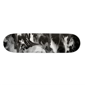 ENCHANTMENT  (black & white abstract art) ~ Skateboard Deck