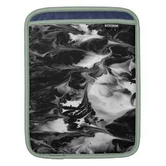 ENCHANTMENT  (black & white abstract art) ~ Sleeve For iPads