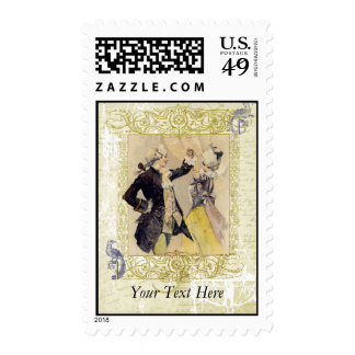 Enchantment French Romance Postage Stamps