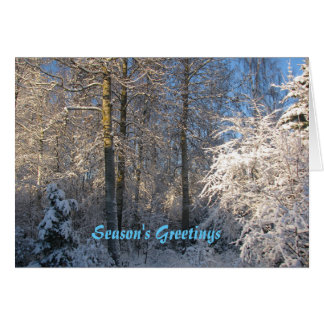 Enchantment of a Winter Day Card