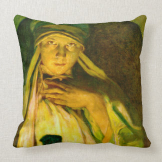 Enchantress 1900 throw pillow