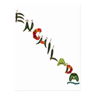 Enchilada Chili Peppers Postcard
