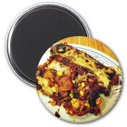 Enchiladas del pollo imán redondo 5 cm