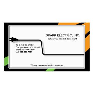 Enchufan al electricista tarjetas de visita