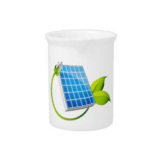 Enchufe de la hoja del panel solar jarrón