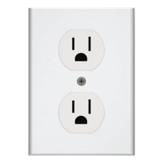 """Enchufe de pared eléctrico invitación 4.5"""" x 6.25"""""""