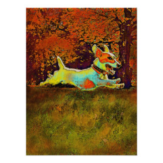 enchufe Russell en maderas del otoño Poster