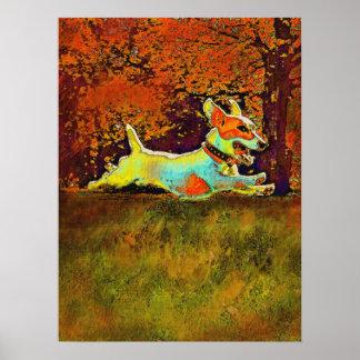 enchufe Russell en maderas del otoño Póster