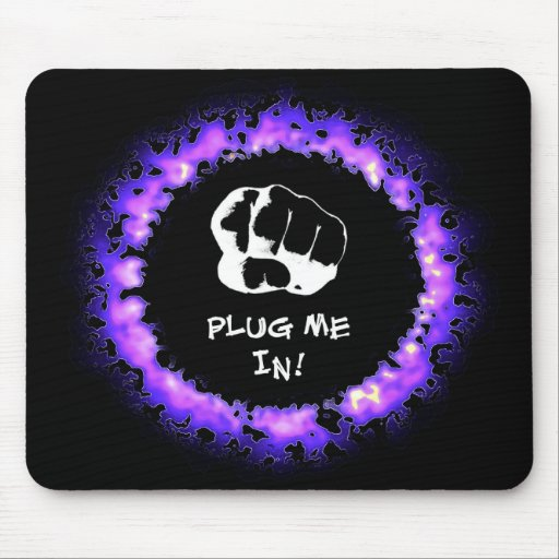 ¡Enchúfeme! - Púrpura Tapetes De Raton