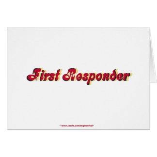Encienda al primer respondedor tarjetas