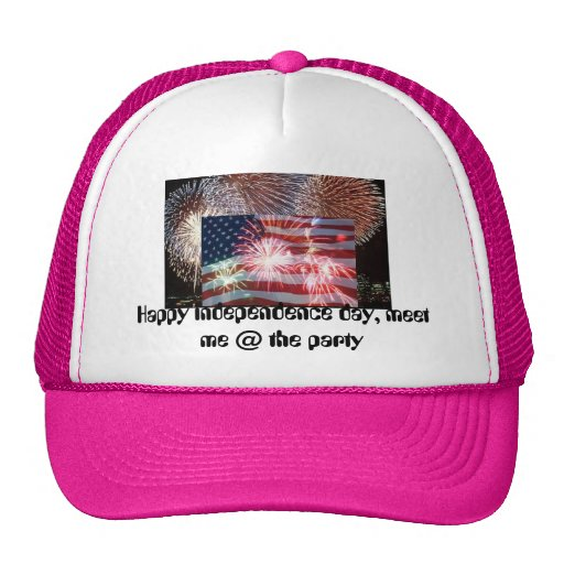 encienda el caballo, bandera americana 4 de julio, gorras de camionero