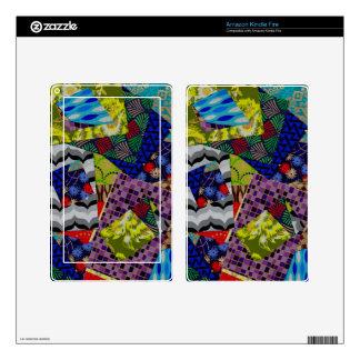 Encienda el collage Multi-Modelado piel del fuego Pegatina Skin Para Kindle Fire