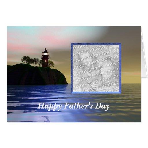 Encienda el día de padre de la manera (el marco de tarjeta de felicitación