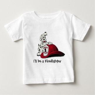 Encienda el perro, yo será un bombero camiseta