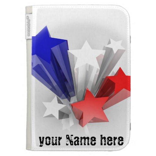 Encienda la caja con colores de la bandera de los