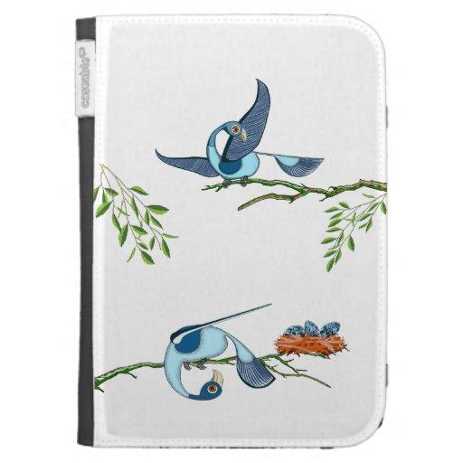 Encienda la caja - pájaros azules coloridos (TiguD