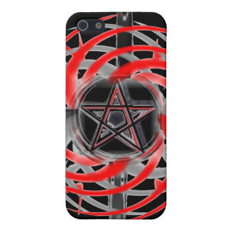 Encienda la caja roja y negra de la estrella del i iPhone 5 funda