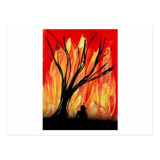 Encienda la figura de la pintura a pistola v2 tarjetas postales
