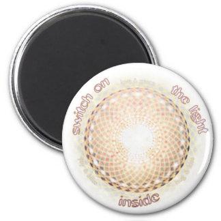 Encienda la luz dentro imán redondo 5 cm