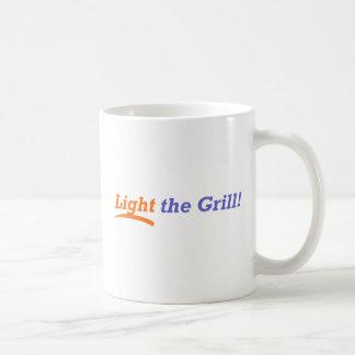 Encienda la parrilla taza de café