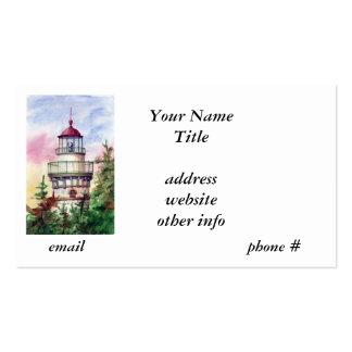Encienda las tarjetas de visita del faro de la