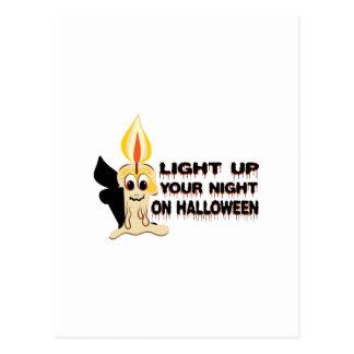 Encienda para arriba su noche el Halloween Postales