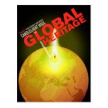 Encienda una vela para la postal global de la here