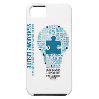 Enciéndalo encima del azul - conciencia del iPhone 5 carcasa
