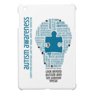 Enciéndalo encima del mini caso del iPad azul -