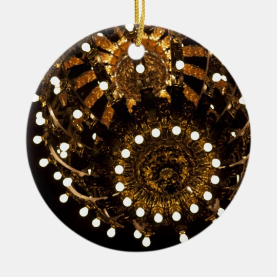 Enciéndalo para arriba adorno navideño redondo de cerámica