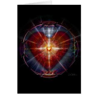 Enciéndase en la sombra #41 - el corazón acorazado tarjeta de felicitación