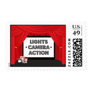 Enciende sellos de la pantalla de cine de la acció
