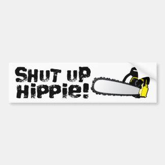 ¡Enciierre al Hippie! Etiqueta De Parachoque