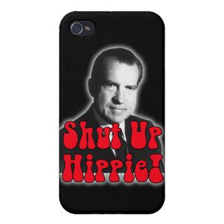 Enciierre al Hippie -- Richard Nixon iPhone 4 Carcasas