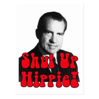 Enciierre al Hippie -- Richard Nixon Postales