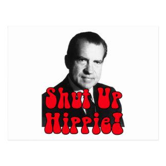 Enciierre al Hippie -- Richard Nixon Tarjetas Postales