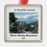 Encima de arte de la foto del Mt. LeConte G/M Ornamento De Navidad