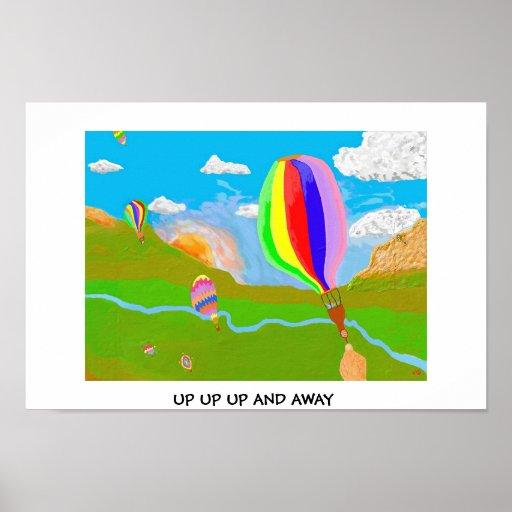 Encima de ascendente ascendente y lejos póster