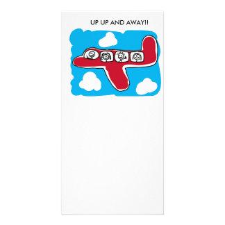 Encima de ascendente y lejos tarjeta personal