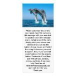 Encima de delfínes ascendentes ascendentes diseño de tarjeta publicitaria