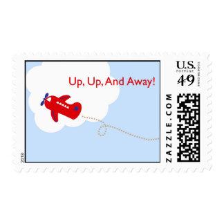 Encima de, encima de, y aeroplano ausente sellos