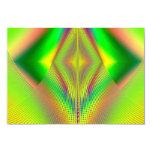 Encima de, encima de y fractal ausente invitación 8,9 x 12,7 cm