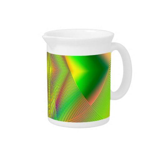 Encima de, encima de y fractal ausente jarras