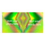 Encima de, encima de y fractal ausente tarjeta fotográfica personalizada
