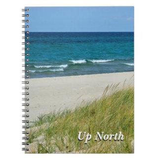 Encima de Great Lakes del norte en diario del vera Spiral Notebooks