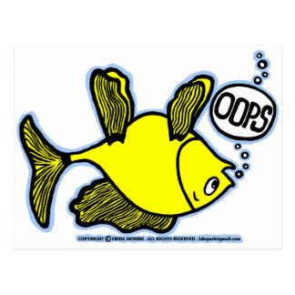 ¡Encima de lado abajo pesque! Tarjeta Postal